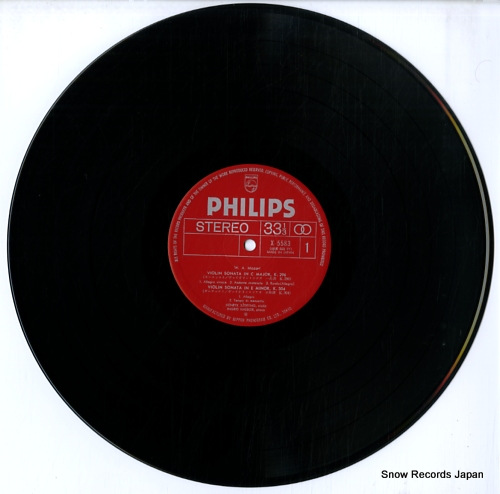 HAEBLER, INGRID mozart; sonatas for piano and violin X-5583 - disc