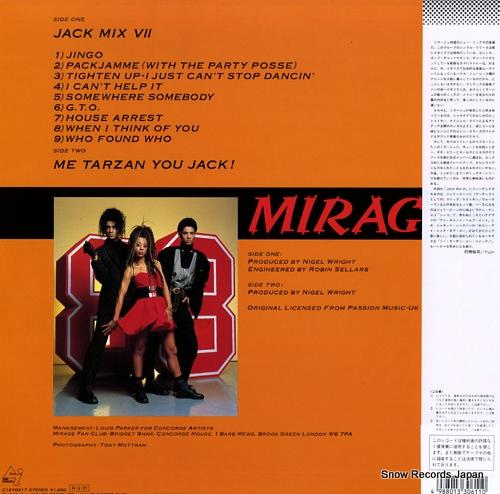 MIRAGE jack mix vii C12Y0317 - back cover