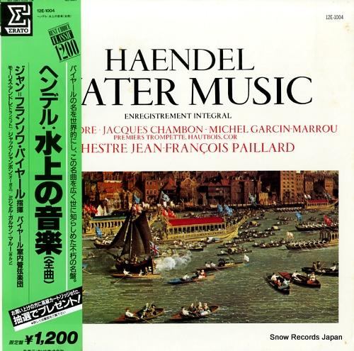 PAILLARD, JEAN-FRANCOIS haendel; water music 12E-1004 - front cover