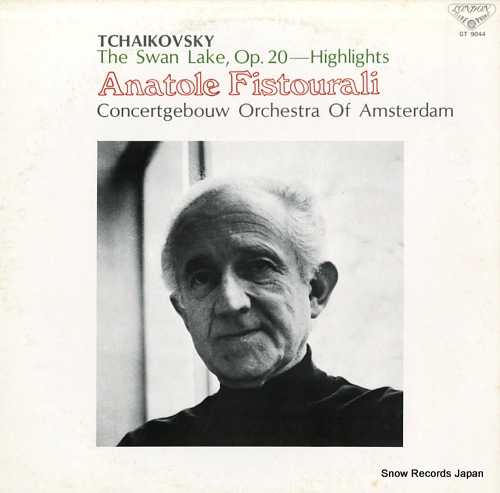 FISTOURALI, ANATOLE tchaikovsky; the swan lake, op.20-highlights GT-9044 - front cover