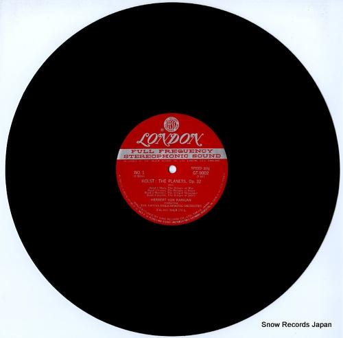 KARAJAN, HERBERT VON holst; the planets, op.32 GT9002 - disc