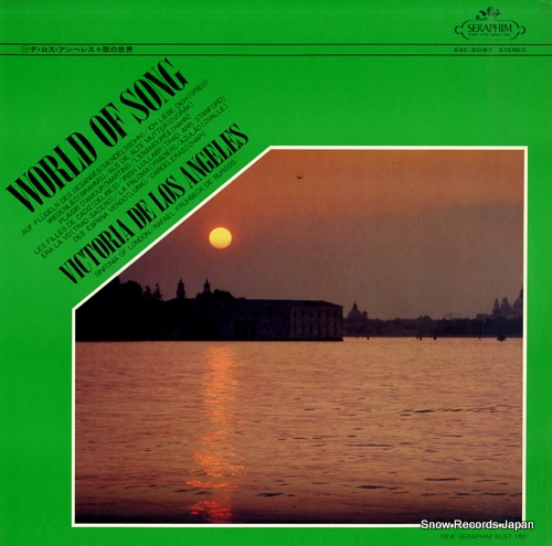 DE LOS ANGELES, VICTORIA world of song EAC-30187 - front cover