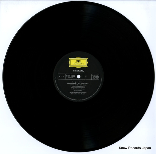 MAAZEL, LORIN beethoven; symphony no.5 MGW5102 - disc