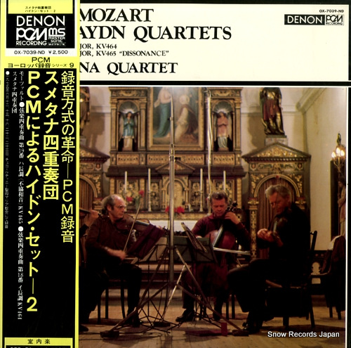 SMETANA QUARTET mozart; two string quartets