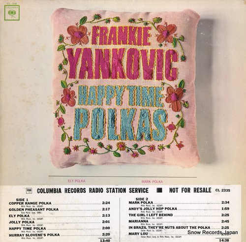 YANKOVIC, FRANKIE happy time polkas CL2335 - front cover