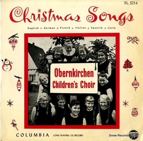 OBERNKIRCHEN CHILDREN'S CHOIR christmas songs XL5214 - front cover