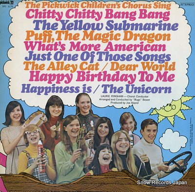 THE PICKWICK CHILDREAN'S CHORUS chitty chitty bang bang and other fun songs of today Vinyl Records
