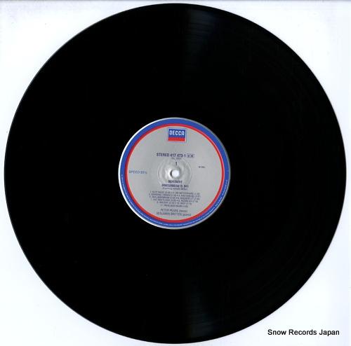 PEARS, PETER schubert; winterreise 417473-1 - disc