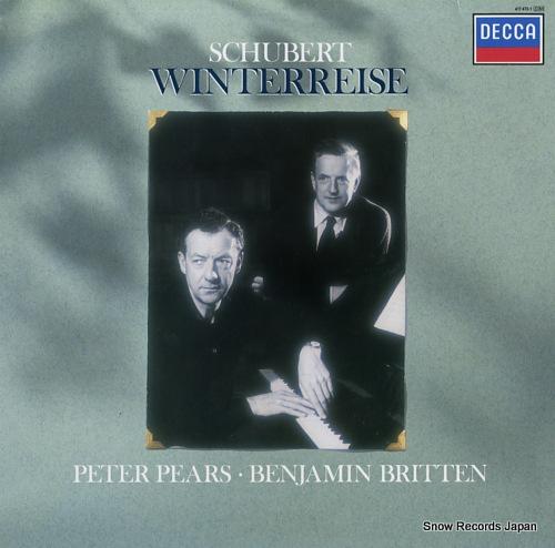 PEARS, PETER schubert; winterreise 417473-1 - front cover