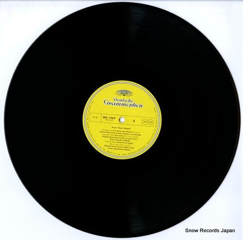 KARAJAN, HERBERT VON from their hearts MG1007 - disc