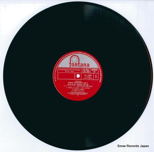 RICHTER, SVIATOSLAV tchaikovsky; piano concerto no.1 in b flat minor, op.23 FG-229 - disc