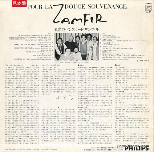 ZAMFIR pour la douce souvenance 28PP-16 - back cover