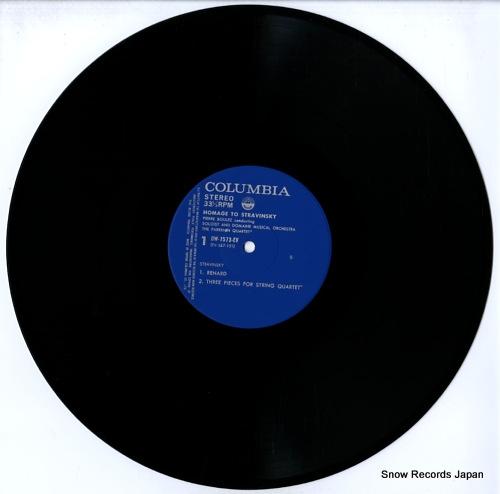 BOULEZ, PIERRE homage to stravinsky OW-7573-EV - disc