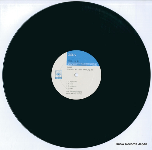 WALTER, BRUNO brahms; symphony no.3 / schicksalslied SOCF119 - disc