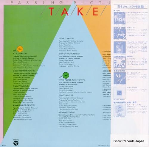 TAKEKAWA, YUKIHIDE passing pictures YX-7198-AX - back cover