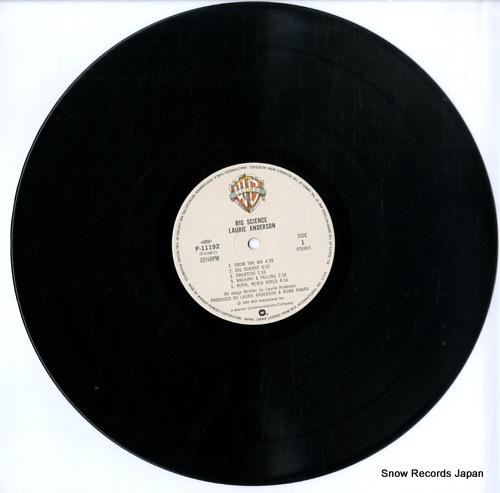 ローリーアンダーソン ビッグサイエンス P 11192 レコード