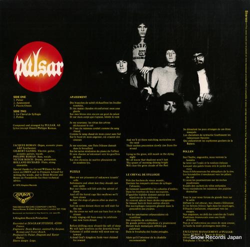 PULSAR pollen GXF2046 - back cover