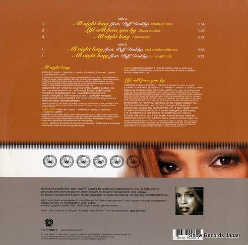 EVANS, FAITH all night long 78612-79206-1 - back cover
