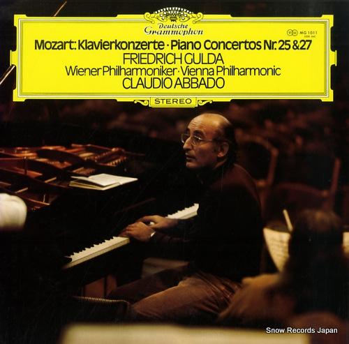 GULDA, FRIEDRICH mozart; piano concertos nr.25 & 27 MG1011 - front cover