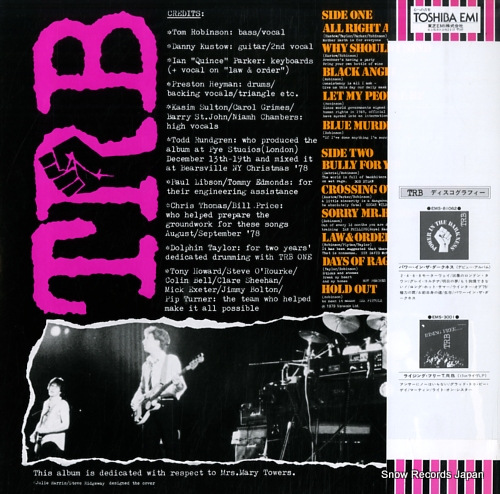 ROBINSON, TOM, BAND two EMS-81167 - back cover