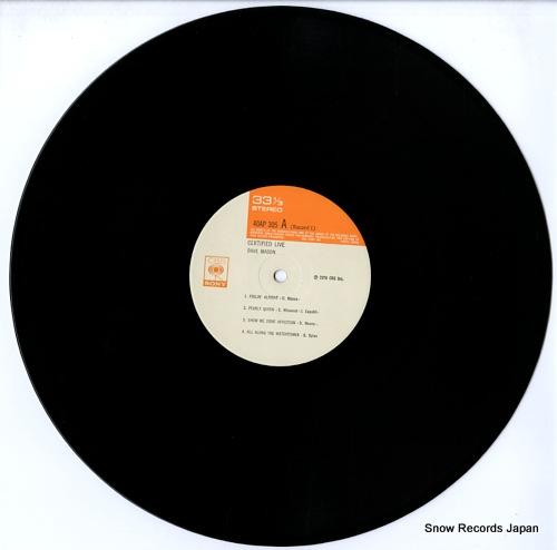 MASON, DAVE certified live 40AP305-6 - disc