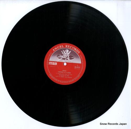 KARAJAN, HERBERT VON franck; symphony in d minor AA-8655 - disc