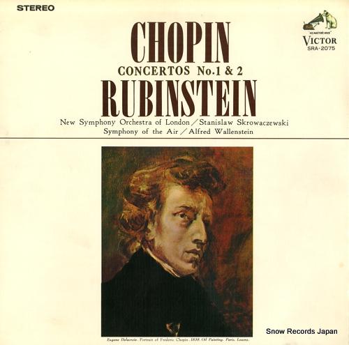 RUBINSTEIN, ARTUR chopin; concertos no.1 & 2 SRA-2075 - front cover