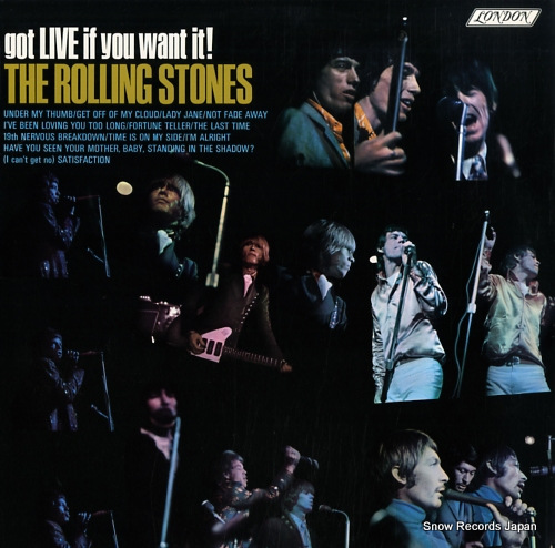 ROLLING STONES, THE got live if you want it! 74931/PS493 - front cover