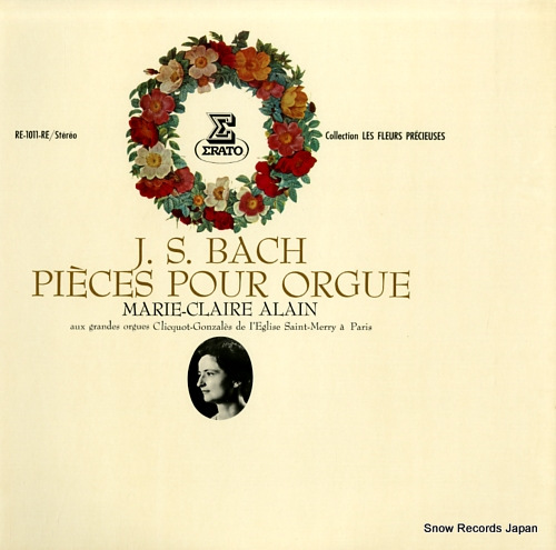 ALAIN, MARIE-CLAIRE bach; pieces pour orgue RE-1011-RE - front cover