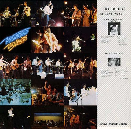 WEEKEND weekend big live '76 25AH36 - back cover