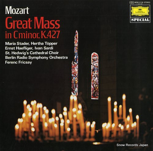 FRICSAY, FERENC mozart; great mass in c minor, k.427 MGW5126 - front cover