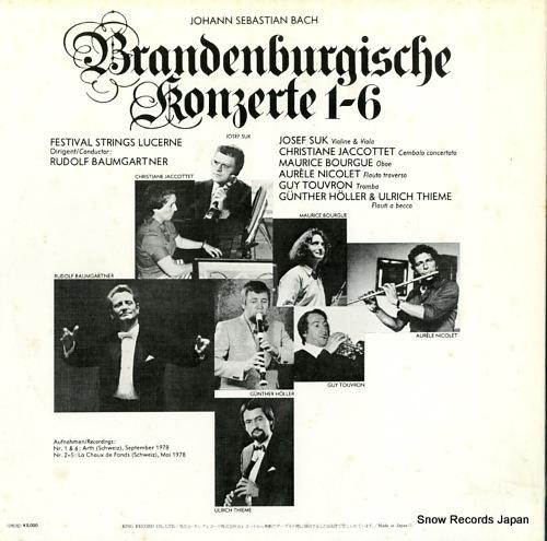 BAUMGARTNER, RUDOLF bach; brandenburgische konzerte 1-6 K15C-9001/2 - back cover