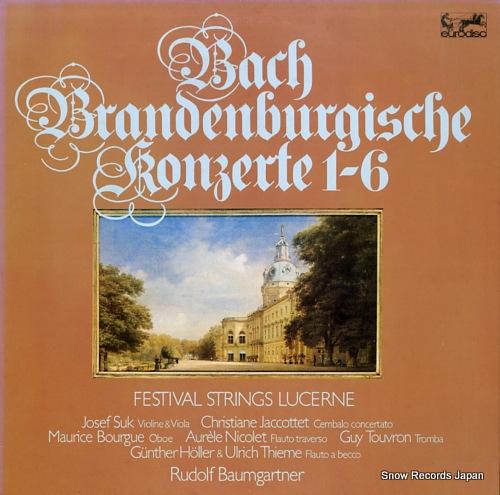 BAUMGARTNER, RUDOLF bach; brandenburgische konzerte 1-6 K15C-9001/2 - front cover