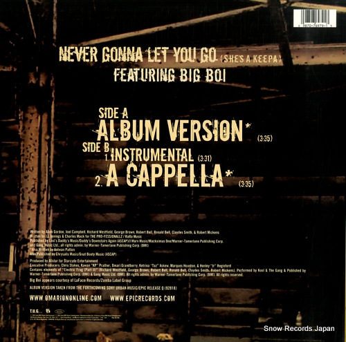 OMARION never gonna let you go (she's a keepa) 49-76979 - back cover