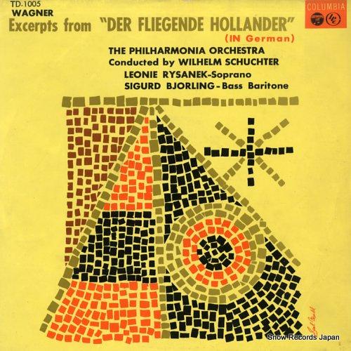 SCHUCHTER, WILHELM wagner; excerpts from der fliegende hollander TD-1005 - front cover