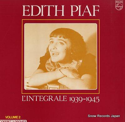 エディット・ピアフ l'integrale 1939-1945 Vinyl Records
