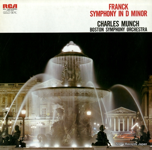 MUNCH, CHARLES franck; symphony in d minor RCL-1023 - front cover
