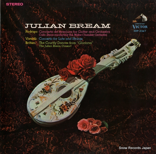 BREAM, JULIAN rodrigo; concierto de aranjuez SHP-2347 - front cover