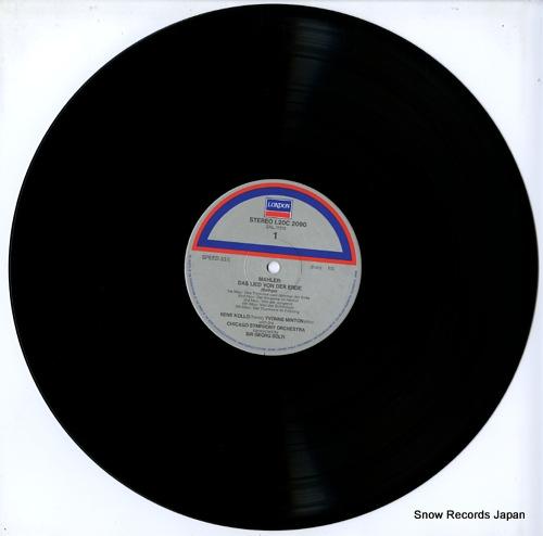 SOLTI, GEORG mahler; das lied von der erde L20C-2090 - disc