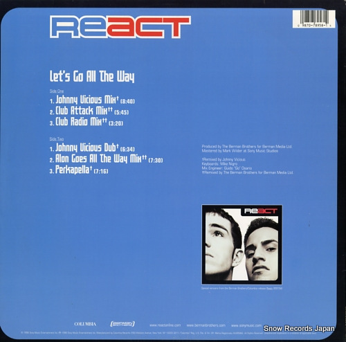 REACT let's go all the way 4478958 / XSS78958 - back cover