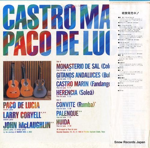 MARIN, CASTRO / PACO DE LUCIA castro marin / paco de lucia 28PP-2 - back cover