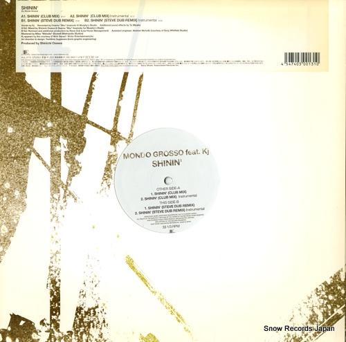 MONDO GROSSO shinin' AIJL5175 - back cover