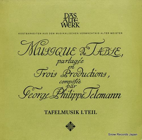 BRUGGEN, FRANS telemann; tafelmusik, 1. teil SAWT9449/50-A - front cover