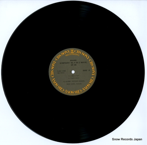 WALTER, BRUNO brahms; symphony no.4 in e minor, op.98 15AC1285 - disc