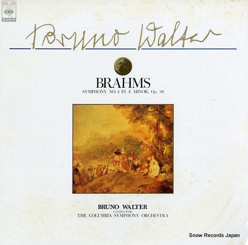 WALTER, BRUNO brahms; symphony no.4 in e minor, op.98 15AC1285 - front cover