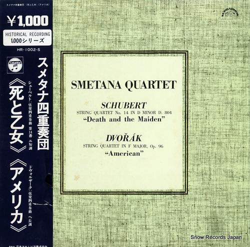 SMETANA QUARTET schubert; string quartet no.14 in d minor d.804 death and the maiden HR-1002-S - front cover