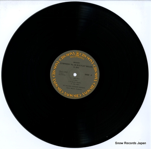WALTER, BRUNO mozart; symphony no.39 in e-flat major, k.543 15AC1262 - disc