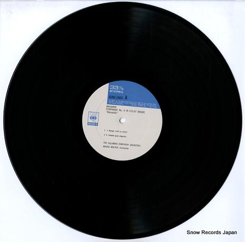 WALTER, BRUNO bruckner; symphony no.4 in e-flat major SONC10457 - disc