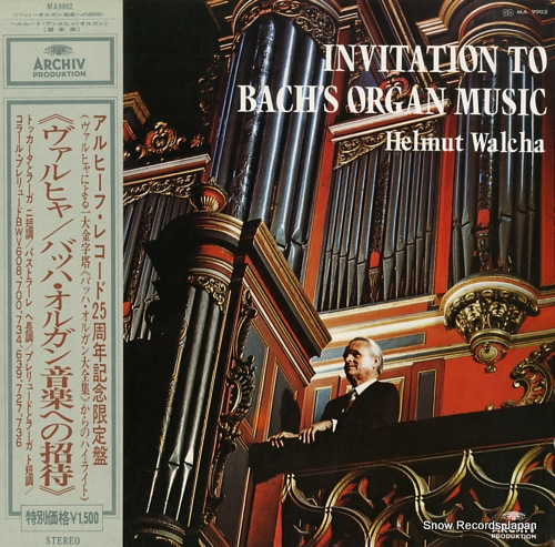 WALCHA, HELMUT invitation to bach's organ music MA9902 - front cover