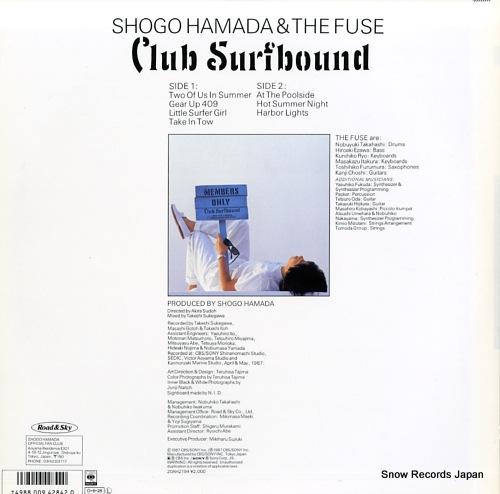 HAMADA, SHOGO club surfbound 20AH2194 - back cover